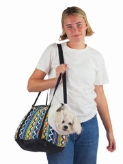 Plush Aztec Dog Carrier Bag