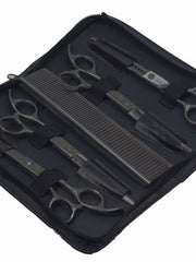 Stainless steel dog grooming scissors and comb set