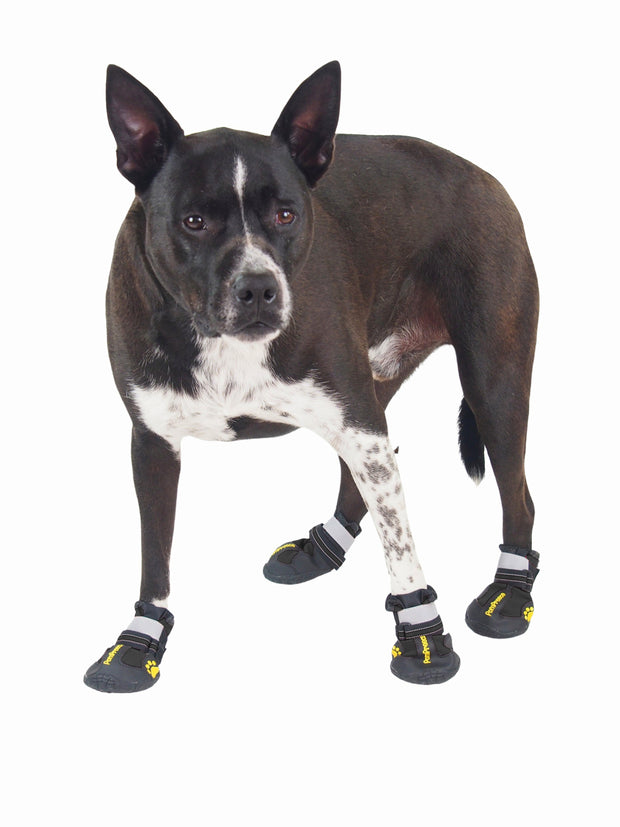 Tough non-slip rubber dog boots and shoes