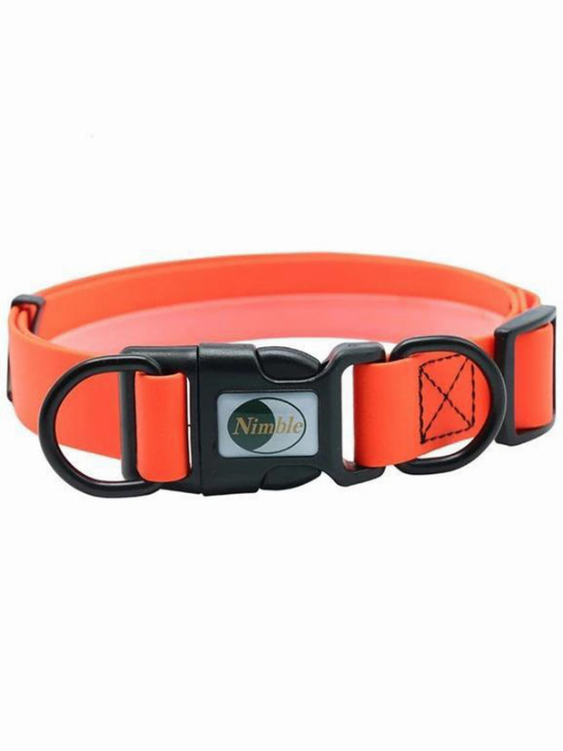 orange pvc dog collar