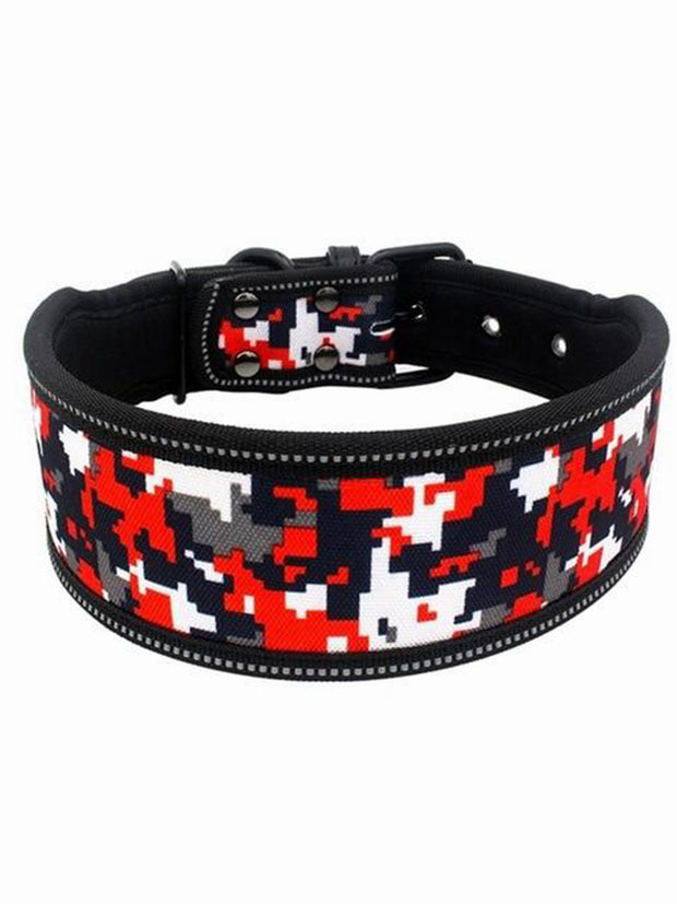 red camo ultra wide dog collar