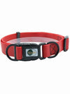 red waterproof plastic dog collar