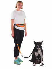 Hands free dog lead and belt for running with dog