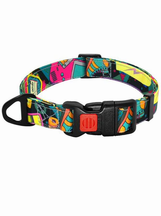 retro 90s nylon dog collar