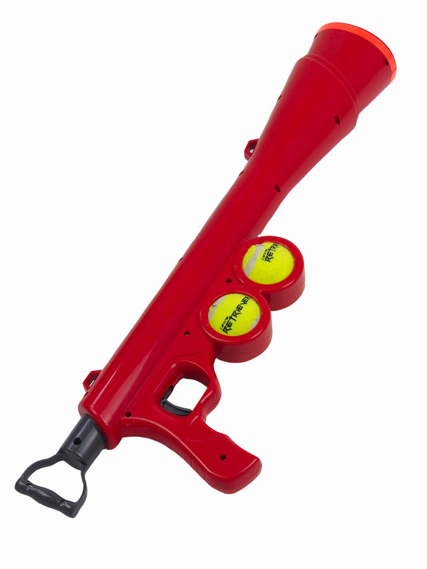 Plastic tennis ball launcher dog toy