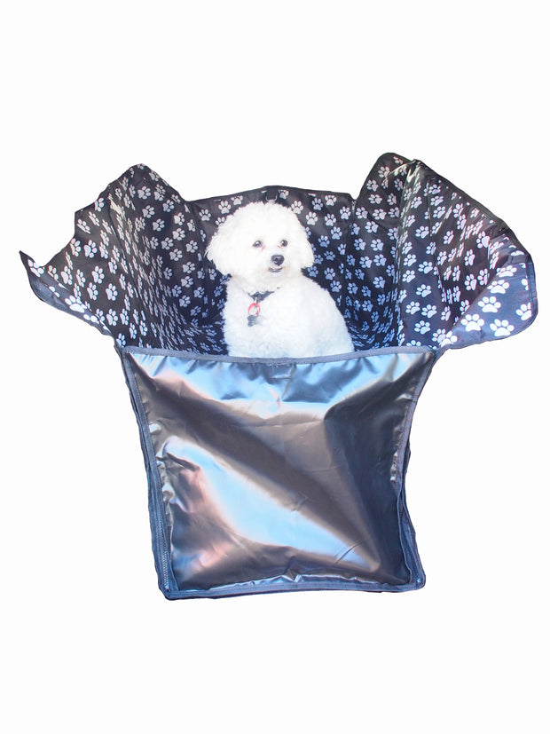 Durable polyester car back seat protector for dogs
