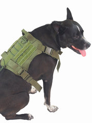 Strong nylon large military dog harness