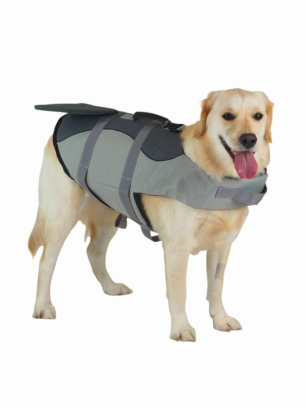 Grey Shark Dog Swim Vest