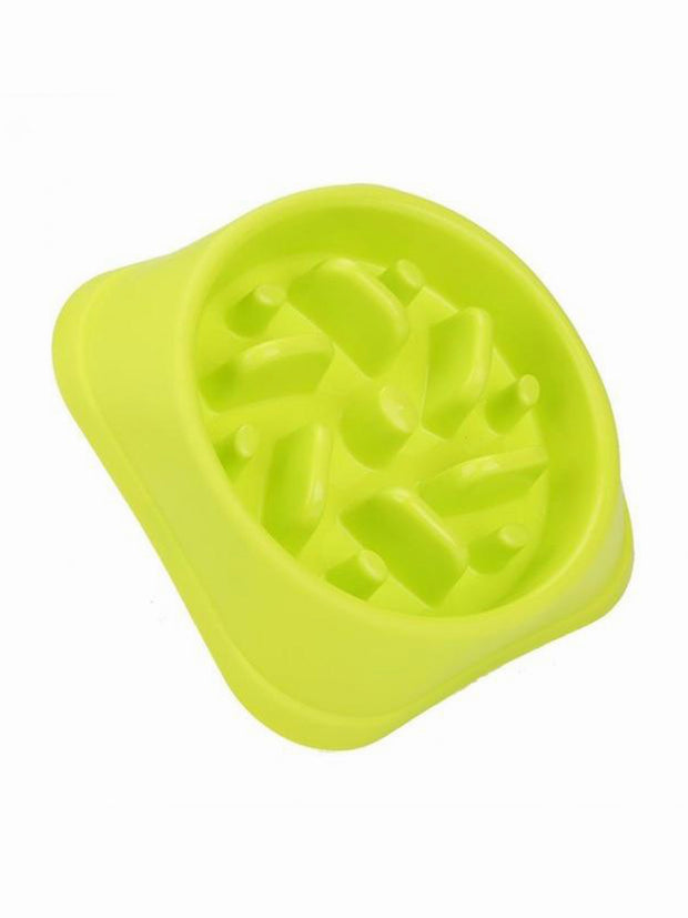 Green Slow feeder dog bowl plastic