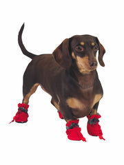 Red Plastic Dog Paw Protector