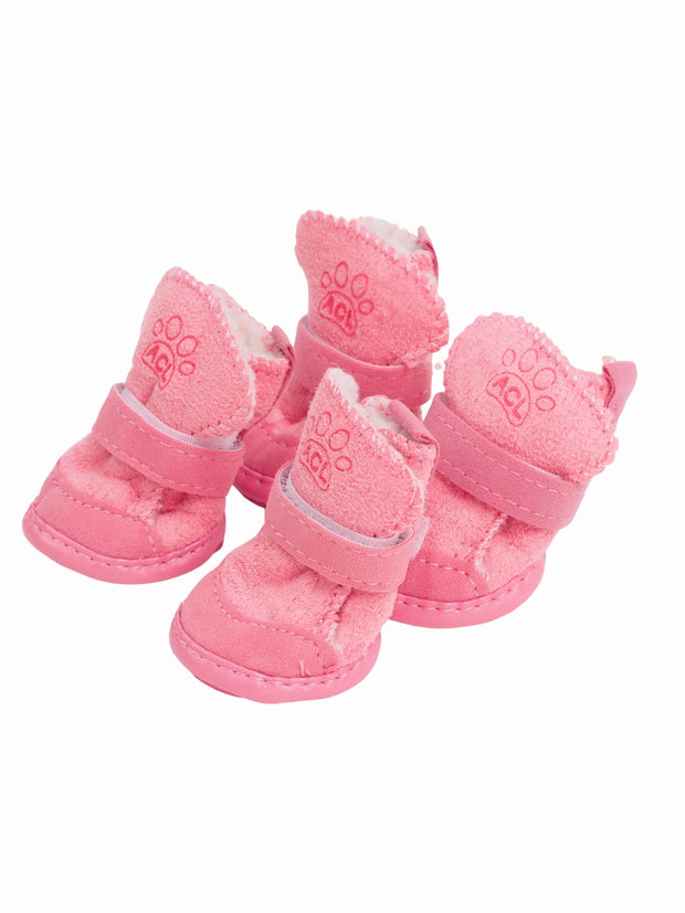 Plush Dog Ugg boots in pink