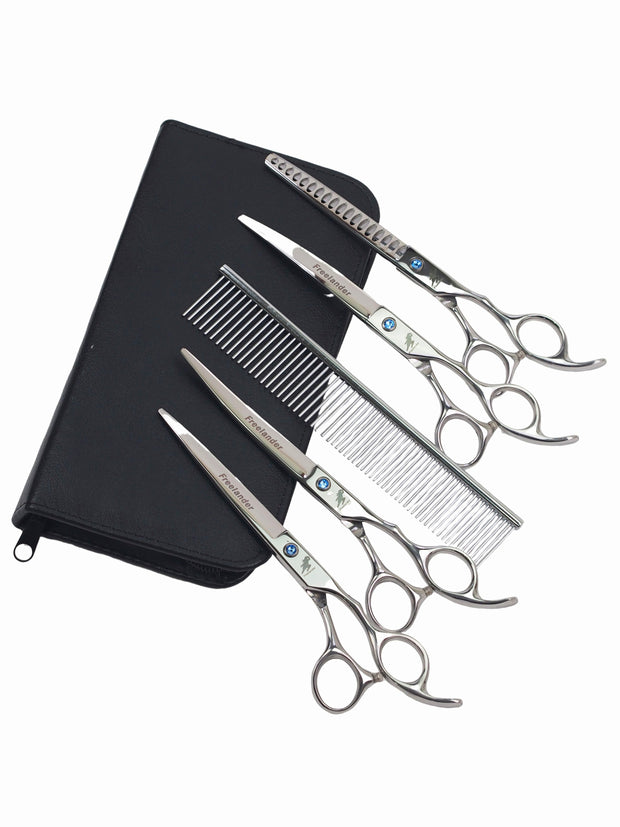 Stainless Steel 5pc Dog Grooming Set
