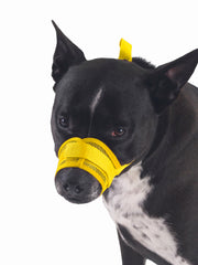 Dog muzzle with adjustable velcro strap