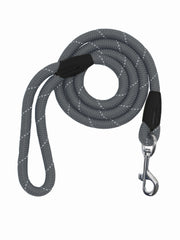 Strong large dog lead and leash in grey