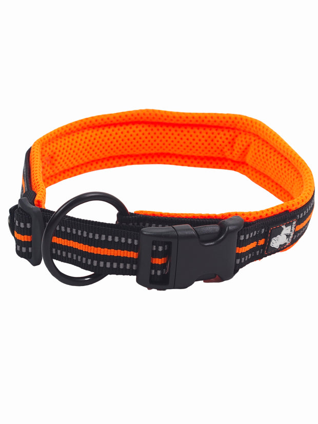 High quality dog collar with reflective stripe