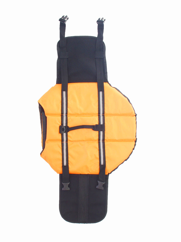 Adjustable dog lifejacket with grab handle