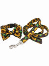 sunflower dog bow tie and lead set