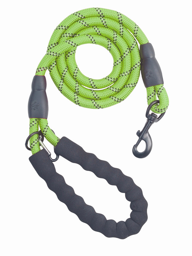 Soft padded handle lead for strong dogs