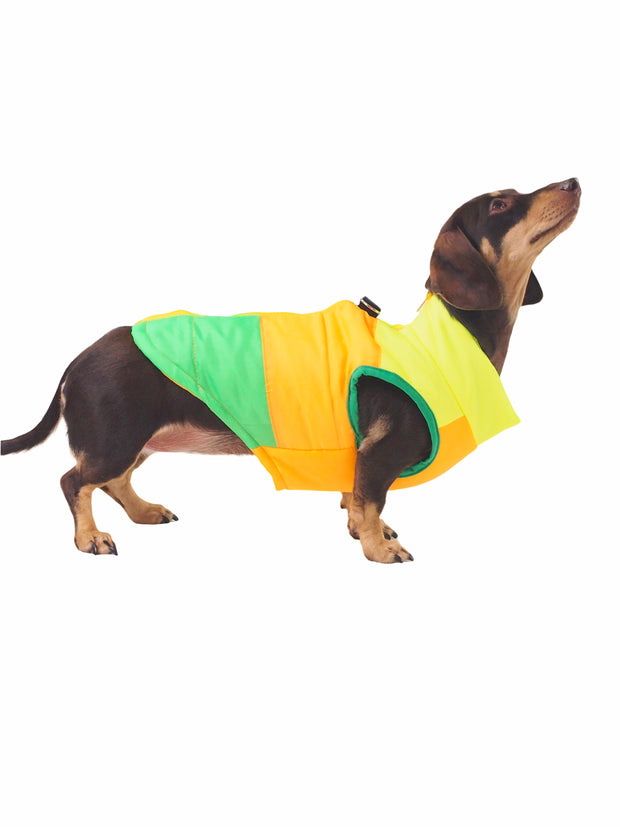 Polyester puffer jacket for dogs
