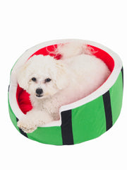 Watermelon dog bed with removable cushion