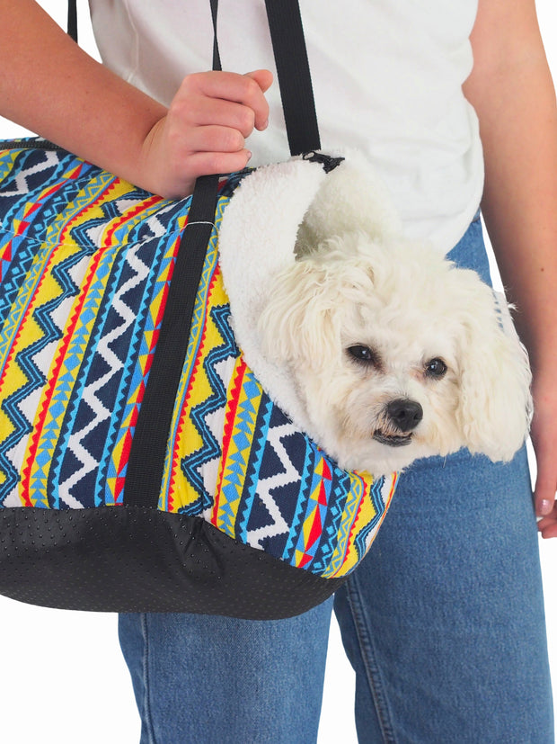 Cosy soft plush dog adjustable carrier bag