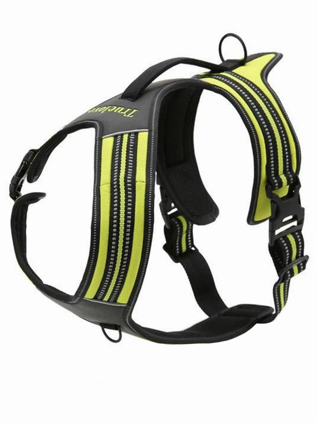 yellow reflective dog harness
