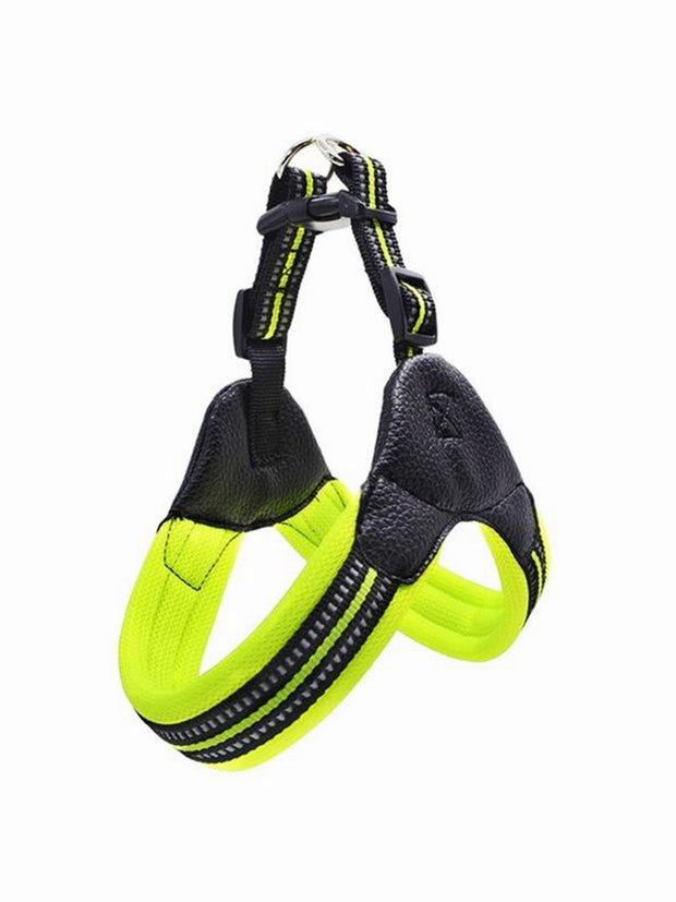 yellow strong breathable dog harness