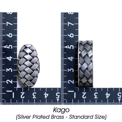 Kago (Silver Plated Brass - Standard Size) [K-004-2BR2]