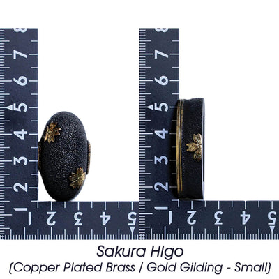Sakura Higo (Copper Plated Brass / Gold Gilding - Small Size) [K-037-2BR3-S]