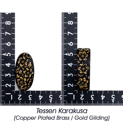 Tessen Karakusa (Copper Plated Brass / Gold Gilding) [K-039-4BR3]