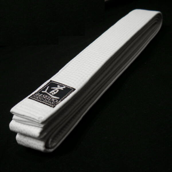 Premium Aikido White Belt Made In Japan