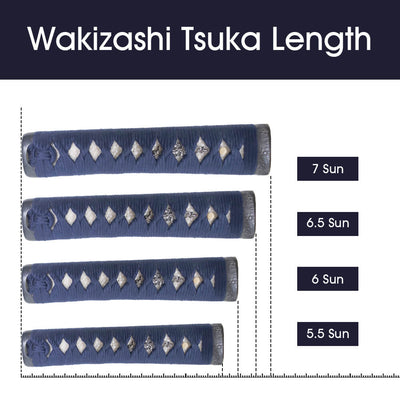 Tsuka Length for Wakizashi [TL155]~