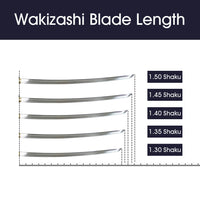 All available lengths for Wakizashi [H130]~