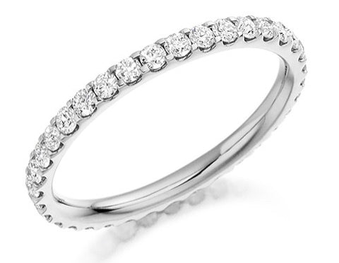 18 CARAT WHITE GOLD 0.75 CT DIAMOND FULL ETERNITY RING