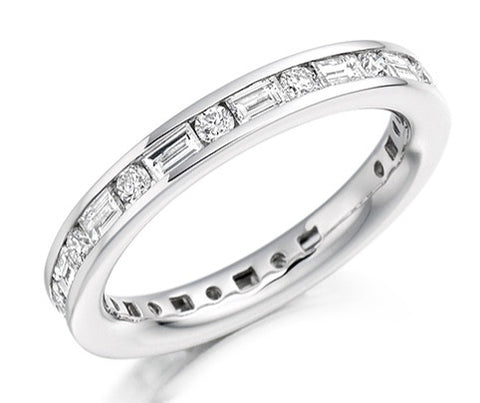18 CARAT WHITE GOLD 1.25 CARAT DIAMOND FULL ETERNITY RING