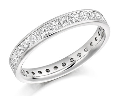 18 CARAT WHITE GOLD 2.05 DIAMOND FULL ETERNITY RING