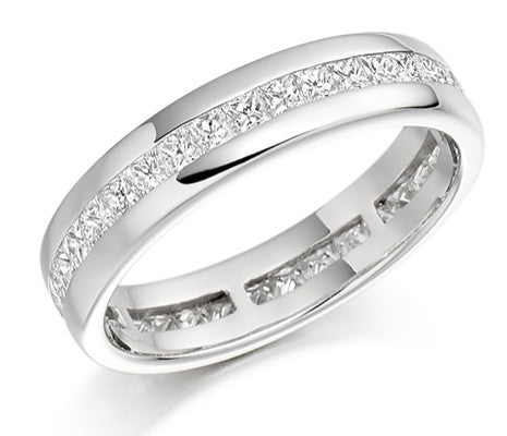 18 CARAT WHITE GOLD 1.00 CARAT FULL ETERNITY RING