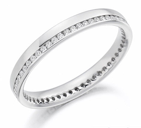 18 CARAT WHITE GOLD 0.26 CARAT DIAMOND FULL ETERNITY RING