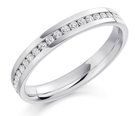 18 CARAT WHITE GOLD 0.50 CARAT DIAMOND FULL ETERNITY RING