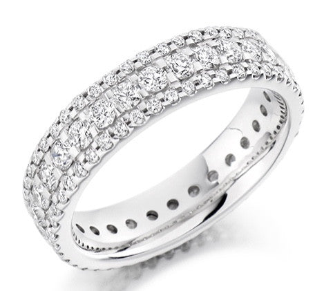 18 CARAT WHITE GOLD 1.60 CARAT DIAMOND FULL ETERNITY RING