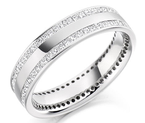 18 CARAT WHITE GOLD 1.00 CARAT DIAMOND FULL ETERNITY RING