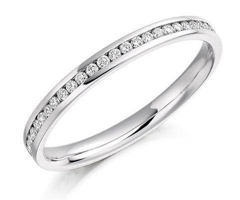 18 CARAT WHITE GOLD 0.33 CT DIAMOND FULL ETERNITY RING