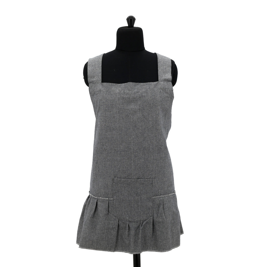 R&H Full Frill Kitchen Apron Raven