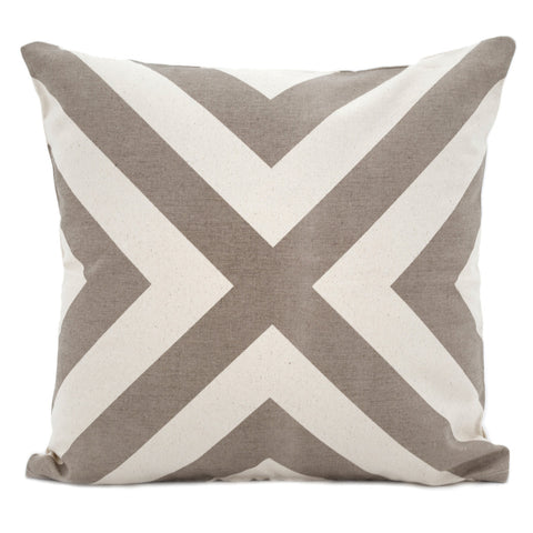 Cross Monochrome Cushion Cover Taupe