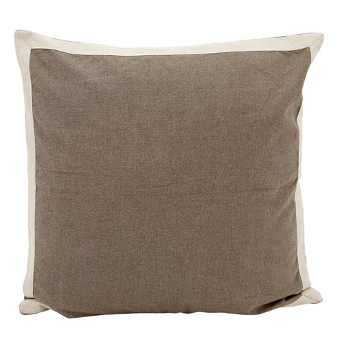 Block Cushion Taupe Cover