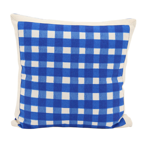 Gingham Watercolour Cushion