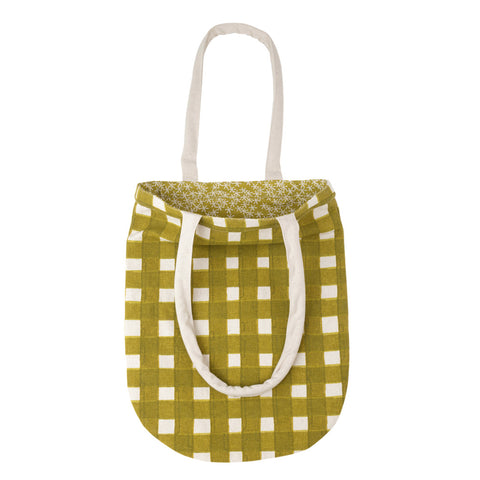Daisy Rain Tote Bag Moss Green