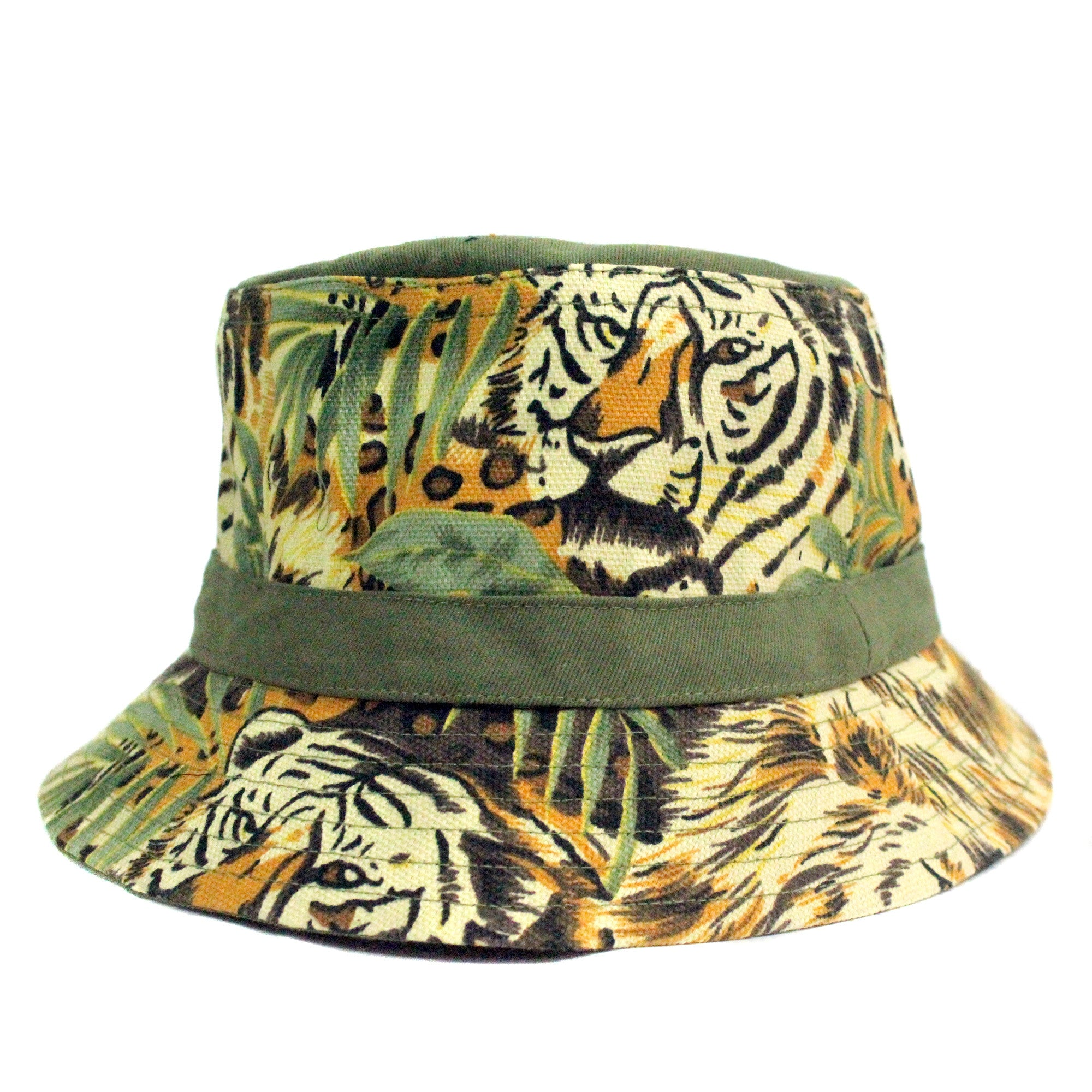 Handcrafted Bucket Hat for some music festival fashion inspiration , in trendy khaki military cotton fabric and inspired for nature safaris in kenya and the amazon jungle