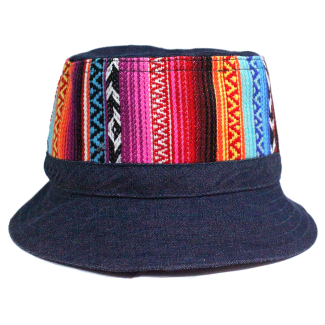 Handcrafted Bucket Hat for some music festival fashion inspiration , in denim cotton fabric