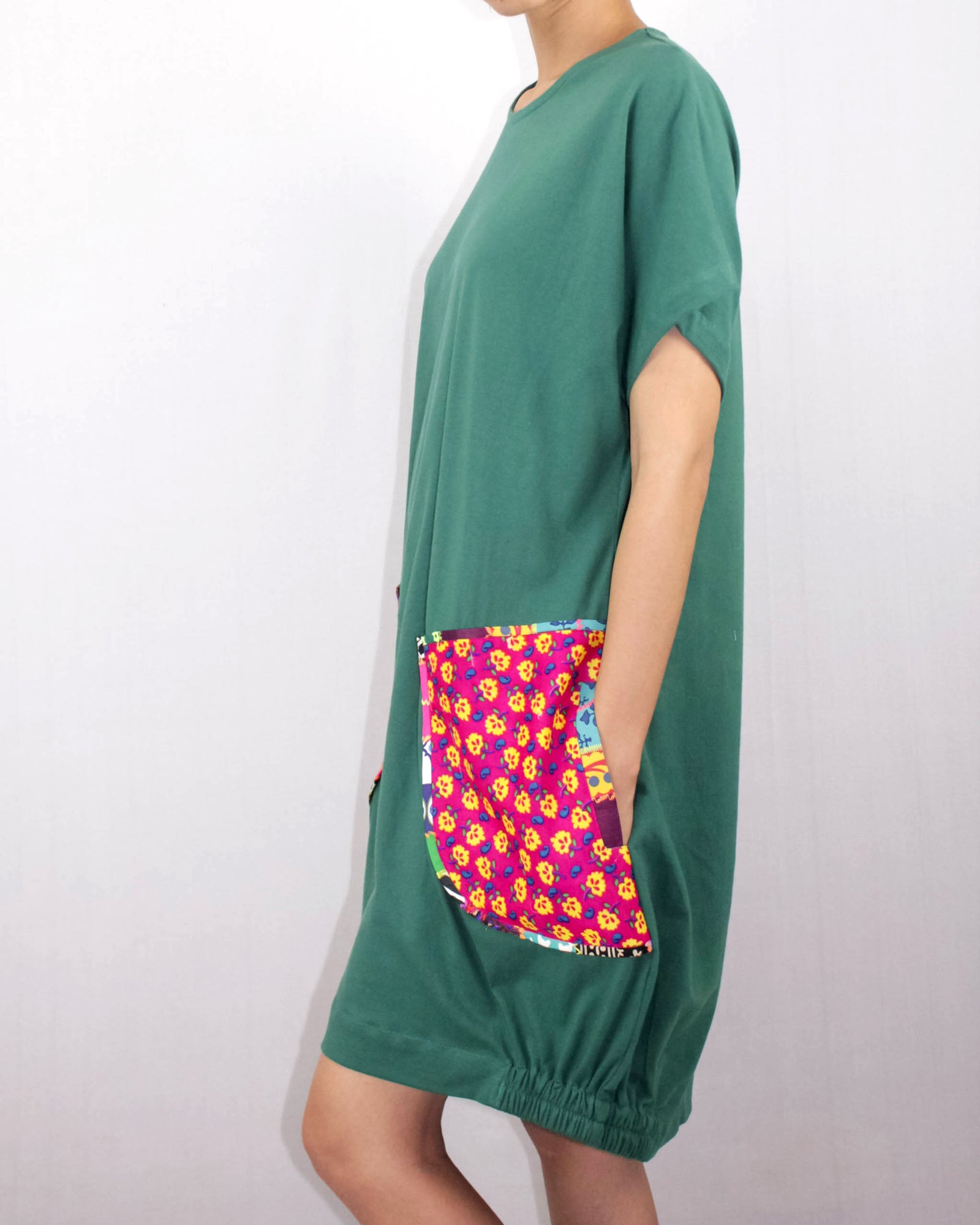 Emerald T-shirt Dress